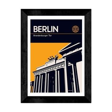 Reign and Hail, Berlin Framed Art Print