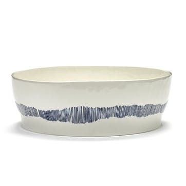 Ottolenghi, Salad Bowl, White and Blue