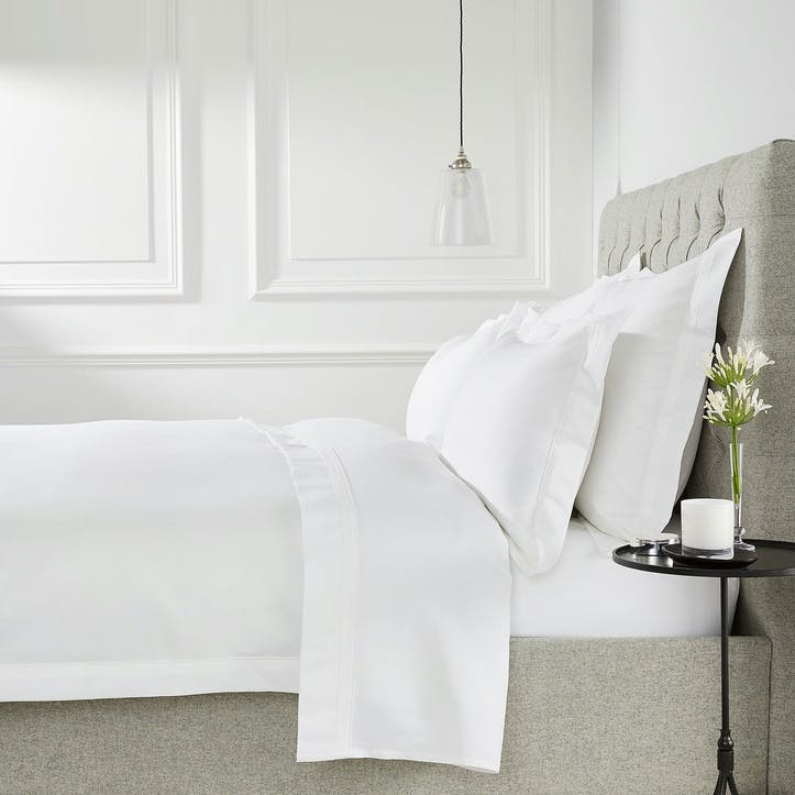 Cavendish Duvet Cover, Super King, White