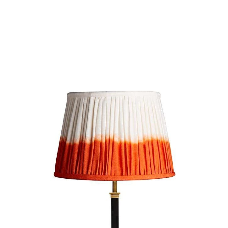 Straight Empire Shade, 30cm, Orange Shibori Linen