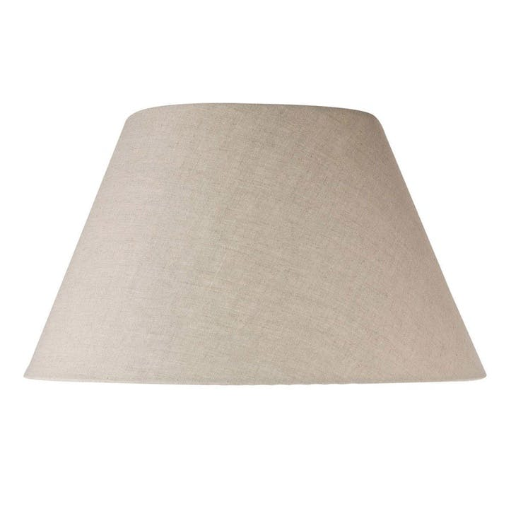 46cm Empire Linen Lampshade, Natural