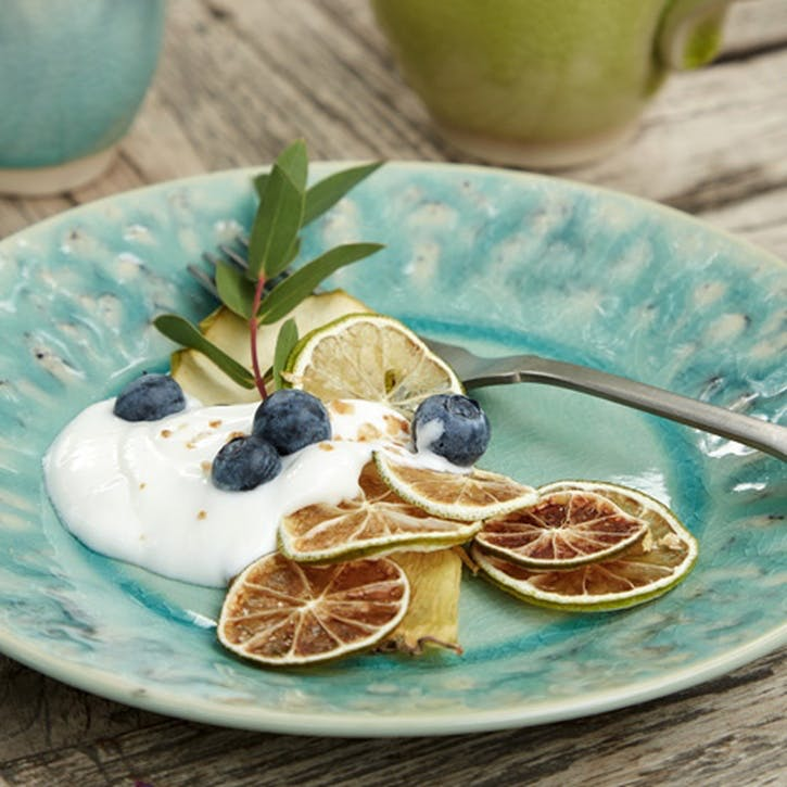 Madeira Blue Salad/ Dessert Plates, Set of 6