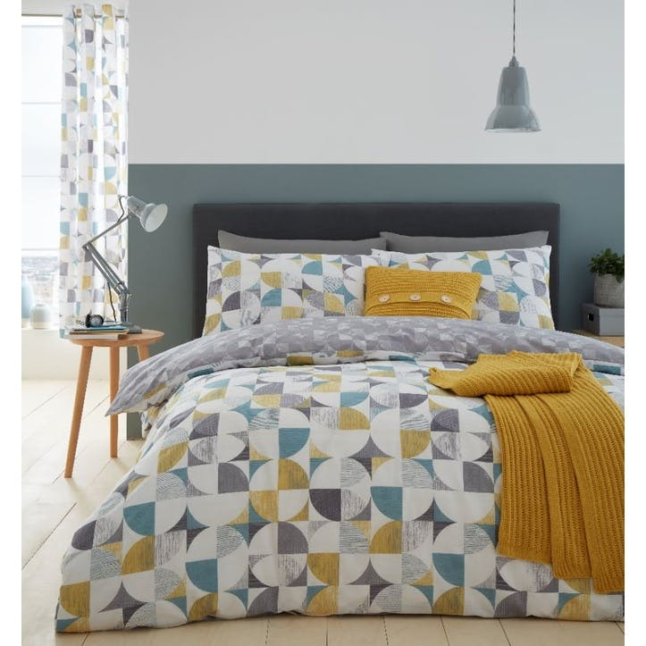 Retro Circles King Bedding Set