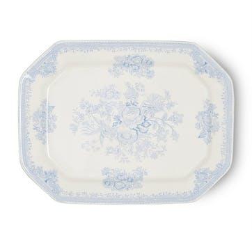 Asiatic Pheasants Rectangular Dish, 34cm, Blue
