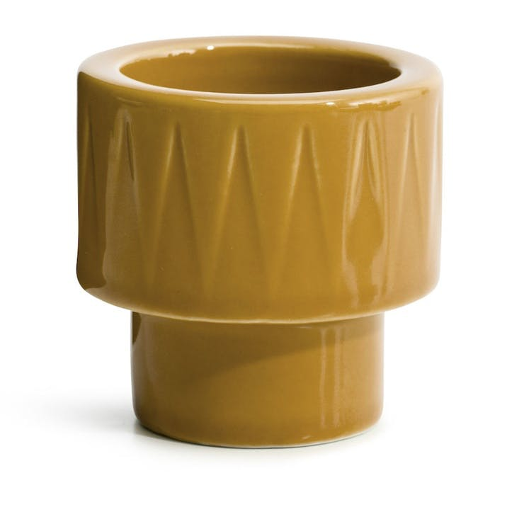 Coffee & More, Tealight/Egg Cup, Yellow