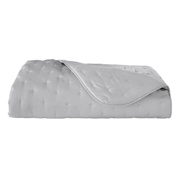 Triomphe Silver Quilted Bedspread