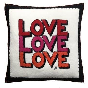 Love, Hearts & Flowers Love, Love, Love Square Cushion 46 x 46cm Multi