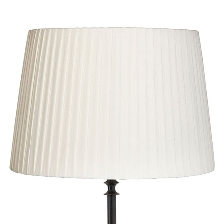 Pleated Linen Lampshade 45cm, Off-White