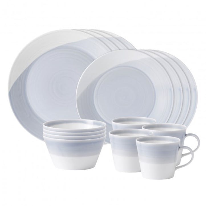 1815 16 Piece Dinner Set, Blue