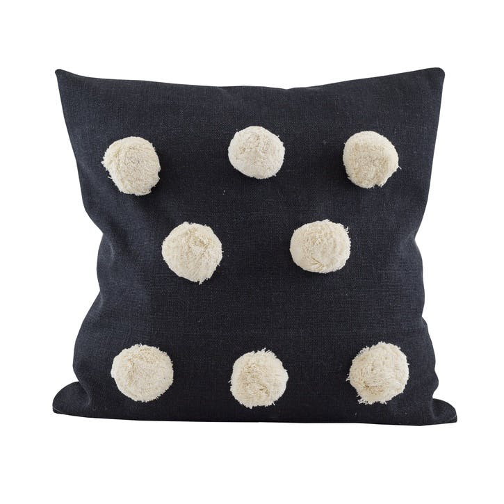 Giant Pom Pom Cushion, Raven