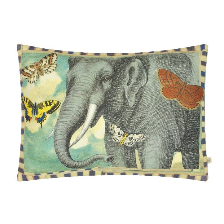 John Derian Elephant's Trunk Sky Cushion