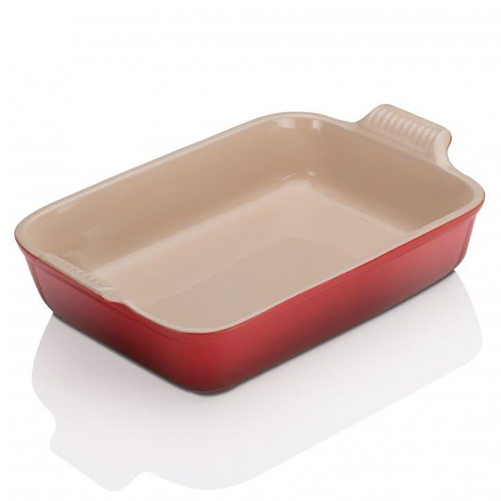 Stoneware Rectangular Dish - 32cm; Cerise
