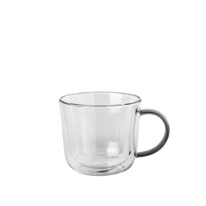 Smoke Wall Mug and Thermo Handle, Glass