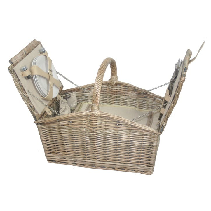 Willow Double Lidded 4 Person Picnic Hamper