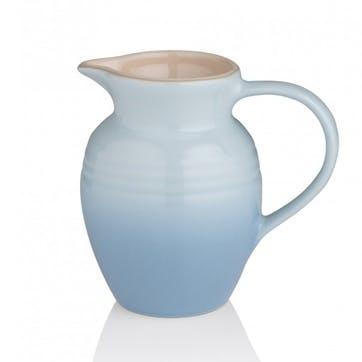 Stoneware Jug - 0.6L; Coastal Blue