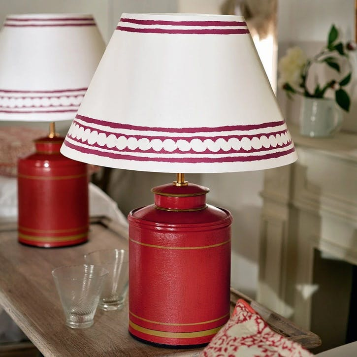 Camellia Table Lamp, Small, Red