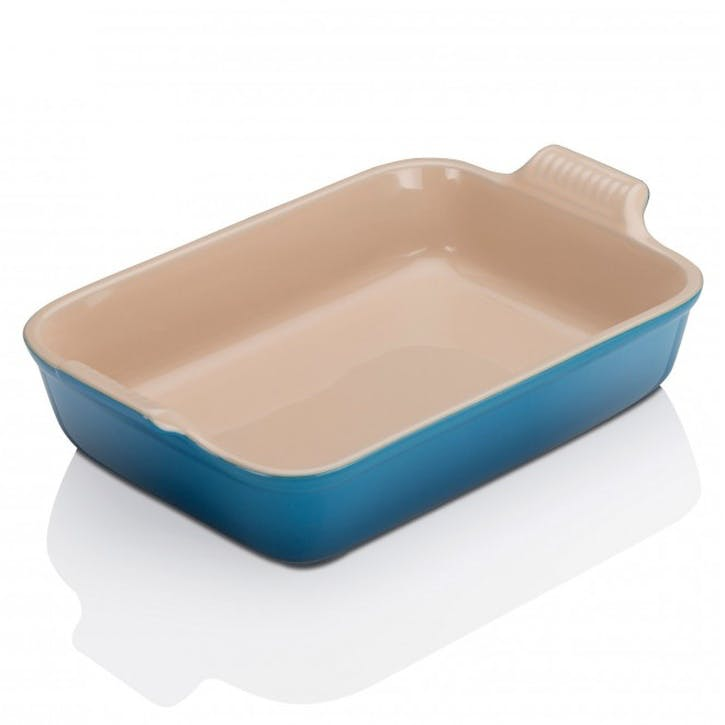 Stoneware Rectangular Dish - 32cm; Marseille Blue