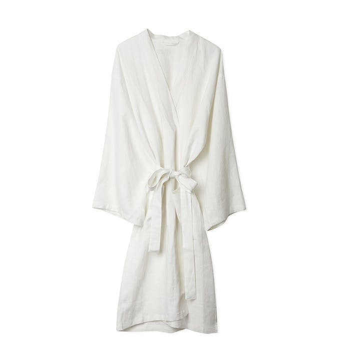 White Linen Robe, Medium