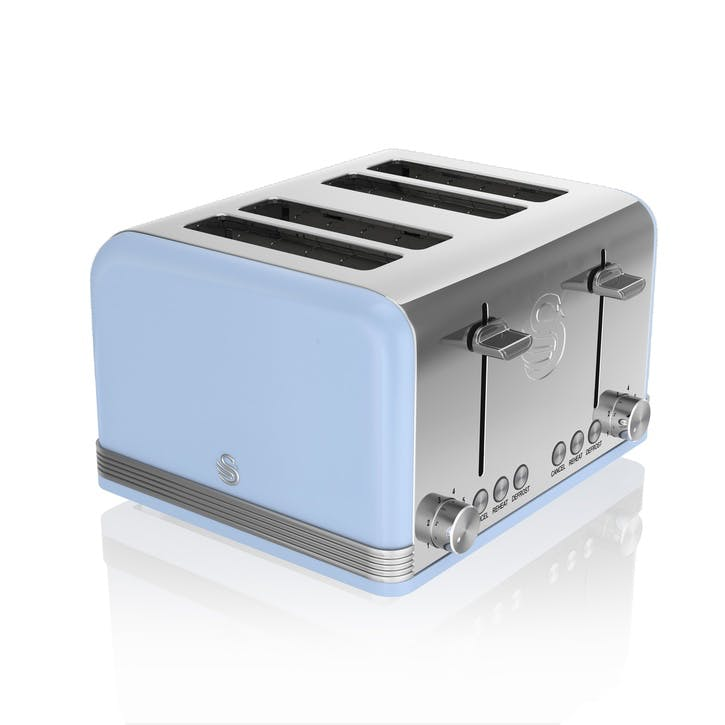 Retro 4-Slice Toaster, Blue