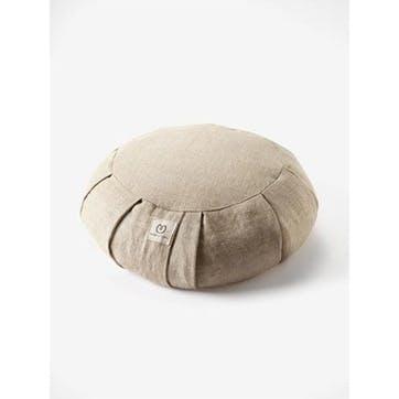 Hemp Buckwheat Zafu Meditation Cushion, Natural