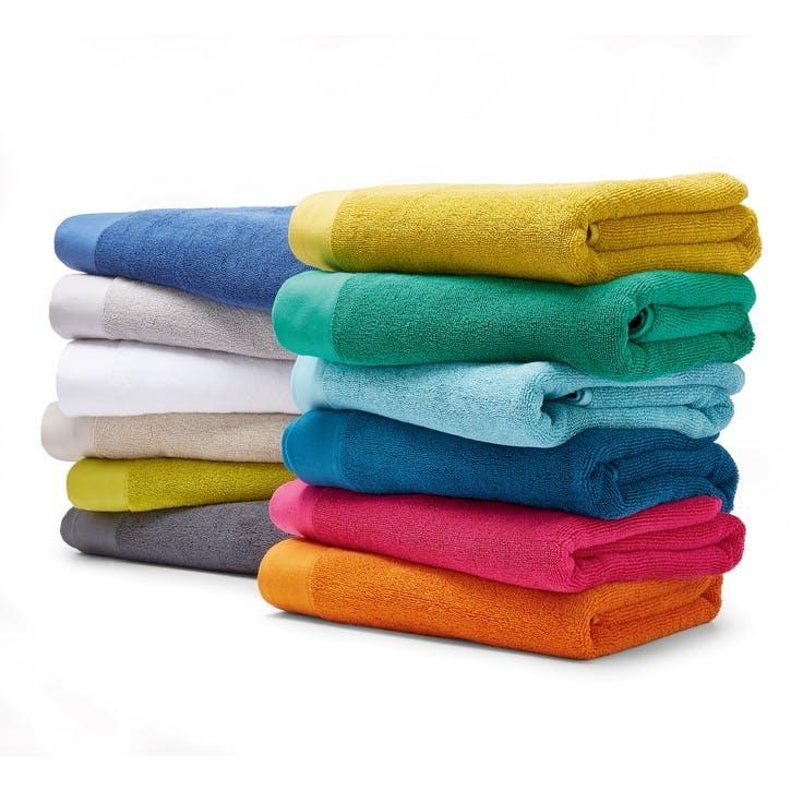 Mr Fox Embroidered Hand Towel, Mandarin