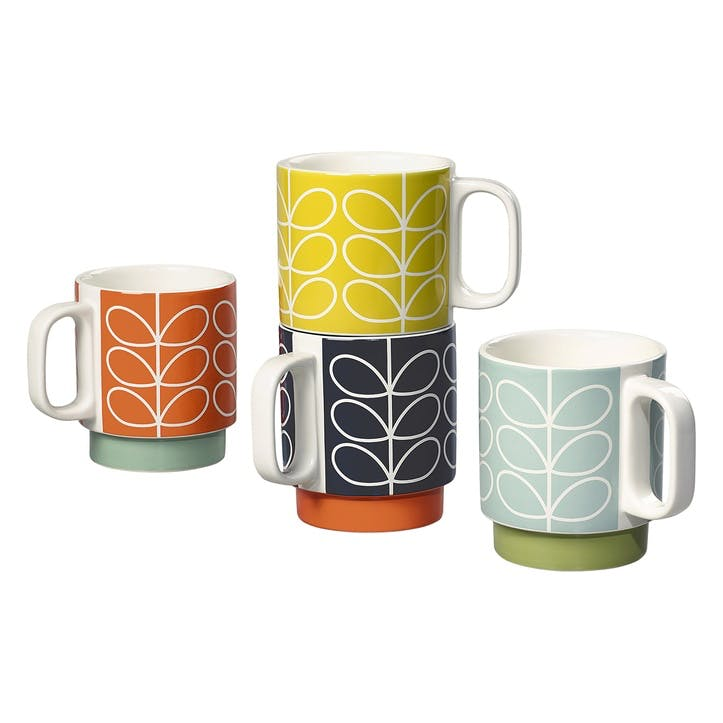 Stacking Mugs Set, Linear Stem