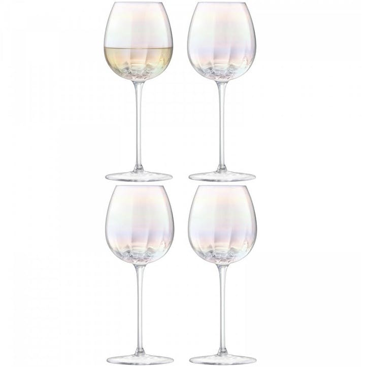 Pearl White Wine Glass, 325ml, Set of 4