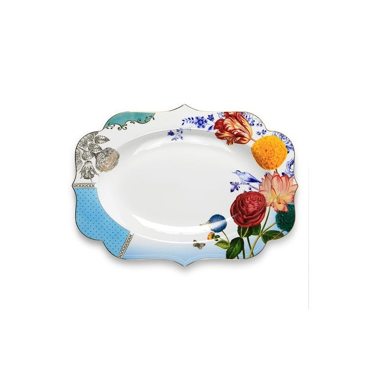 PiP Royal Floral Oval Platter