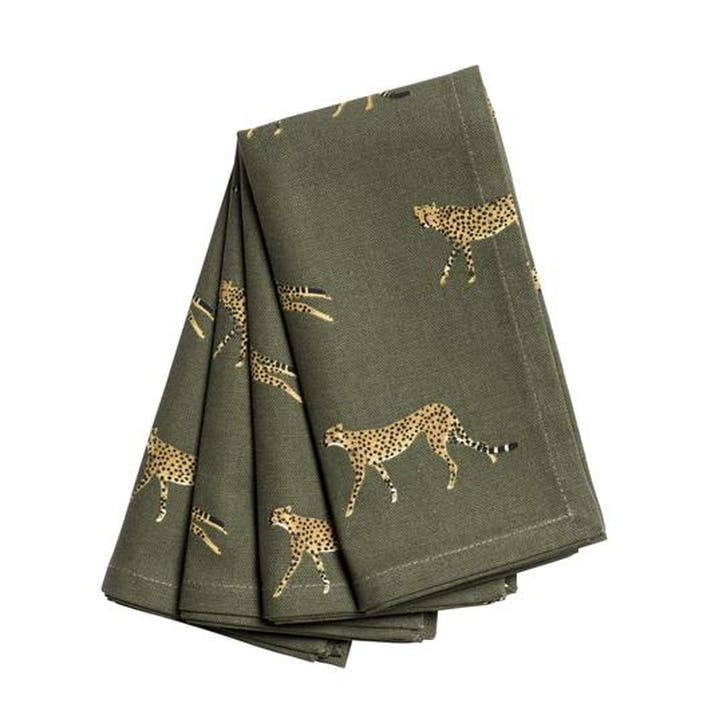 ZSL 'Cheetah' Napkins, Set of 4