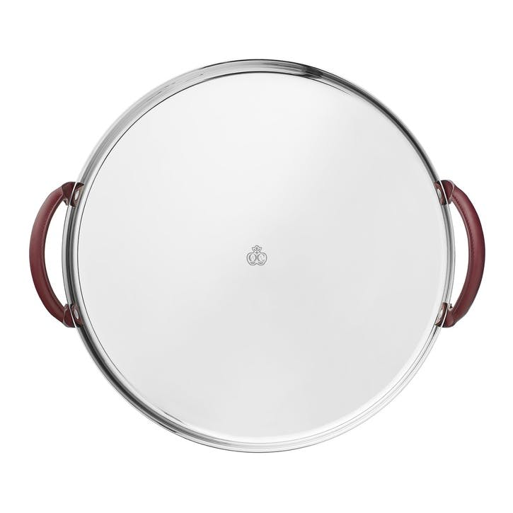 Mood Nomade Round Tray with Leather Handles