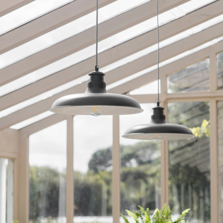 Toulon Pendant Light, Carbon