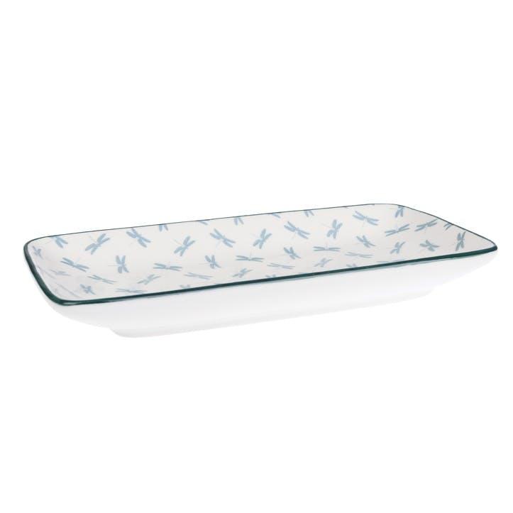 'Dragonfly' Porcelain Rectangular Plate