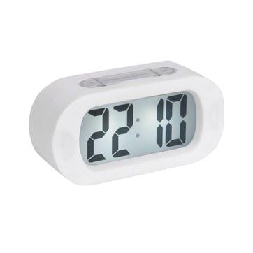 Gummy Alarm Clock, White