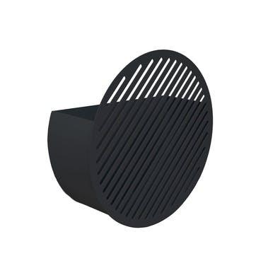 Diagonal, Medium Wall Basket, Black