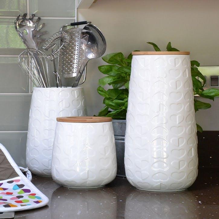 Beau & Elliot Confetti Embossed Utensil Jar, 22cm