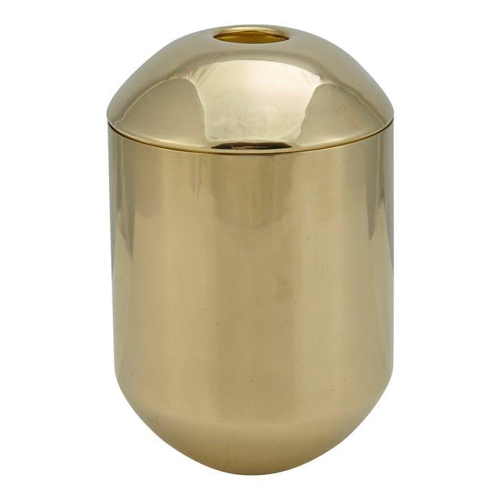 Form Tea Caddy; Brass