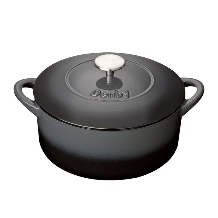 Cast Iron Halo Round Casserole Dish, 24cm