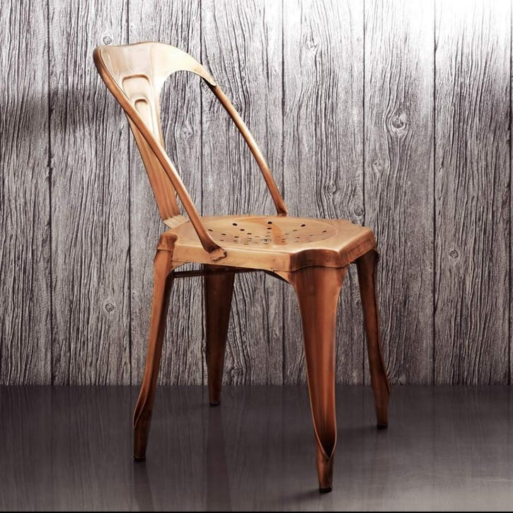 Isaac Iron Chair Copper