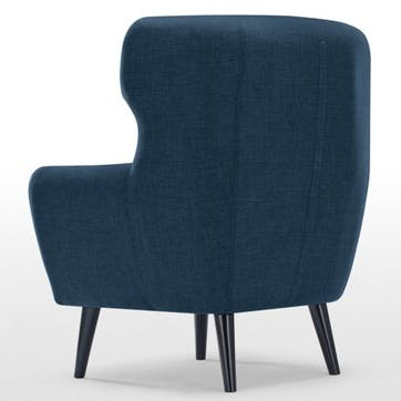 Kubrick Wing Back Chair, Scuba Blue