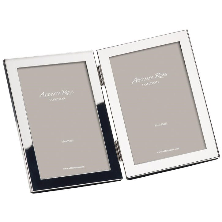 "Double Silver Photo Frame - 8"" x 10"""