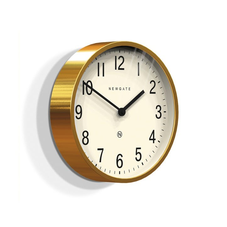 Master Edwards Wall Clock, Dia. 30cm, Radial Brass