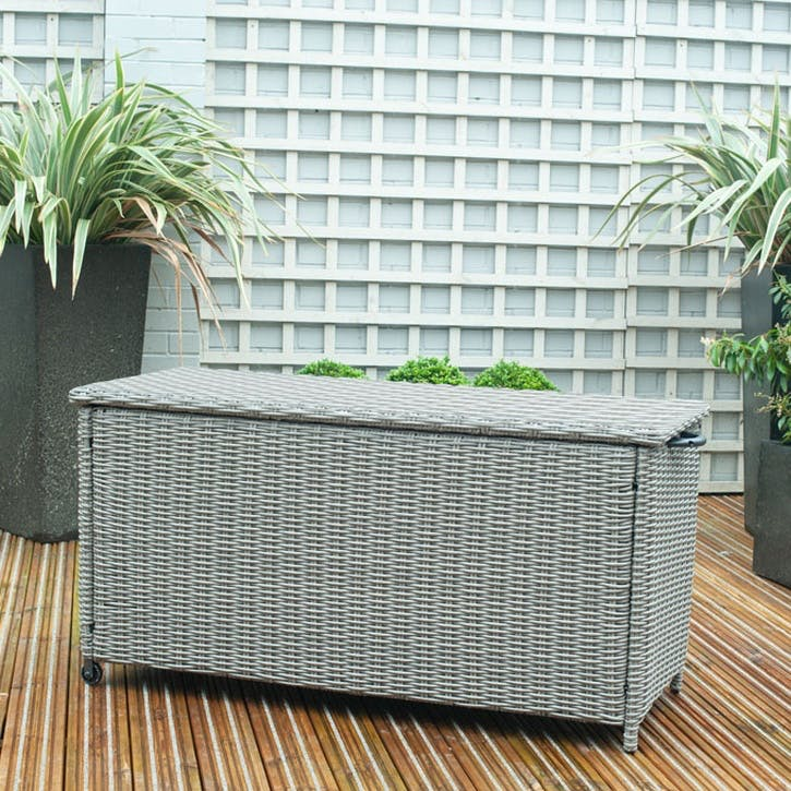 Barbados Cushion Box, Small, Slate Grey