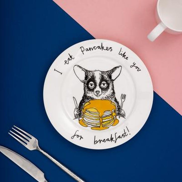 'I Eat Pancakes Like You For Breakfast!' Side Plate