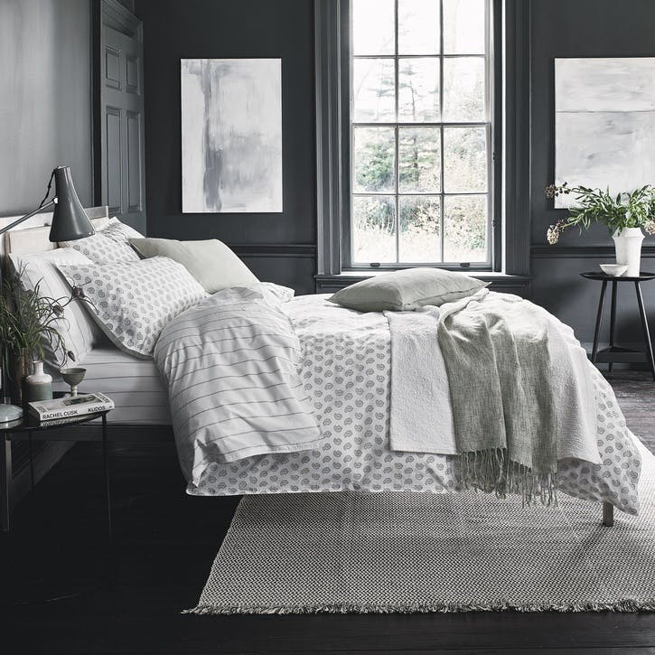 Paisley Super-King Duvet Set, Sage
