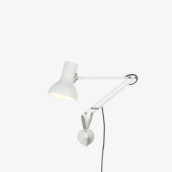 Type 75 Mini Lamp with Wall Bracket, Alpine White