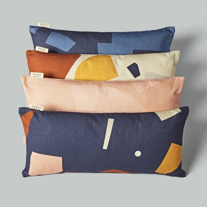 Lumbar, Roger Lewis Collaboration, Cushion, H27 x W55cm, Navy