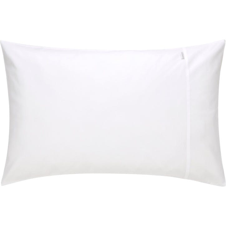 500tc Cotton Sateen Standard Pillowcase, Snow