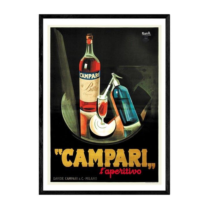 East End Prints, Campari, Framed Art Print, H61 x W44 x D2cm, Black