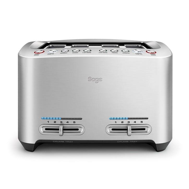 The Smart Toast Toaster 4 Slot; Steel