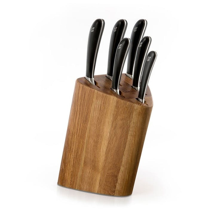 Signature Prism Oak Knife Block Set, 7 Piece Set
